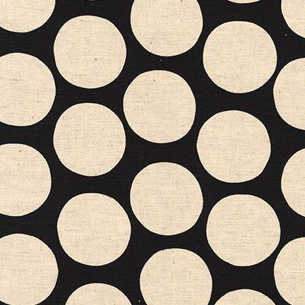 Fabric Cotton/Linen White on Black Dots Sevenberry