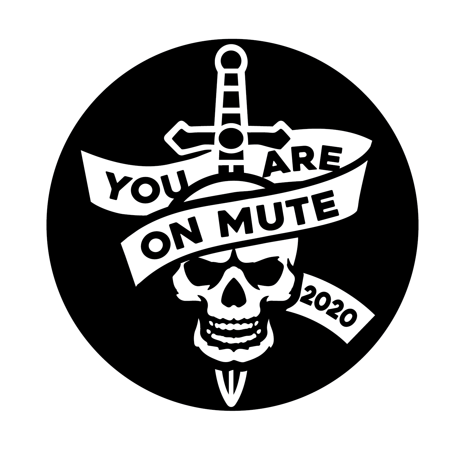 Pin You Are On Mute Skull