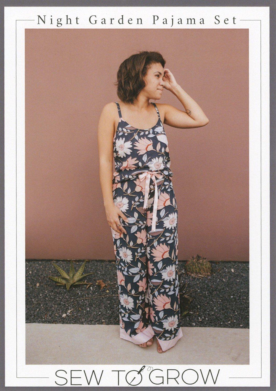 Pattern Night Garden Adult Pajama Set - Sew to Grow