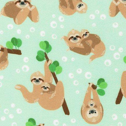 Fabric Flannel Cuddly Crew Sloths