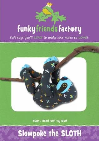 Pattern Slowpoke Sloth Toy - Funky Friends Factory