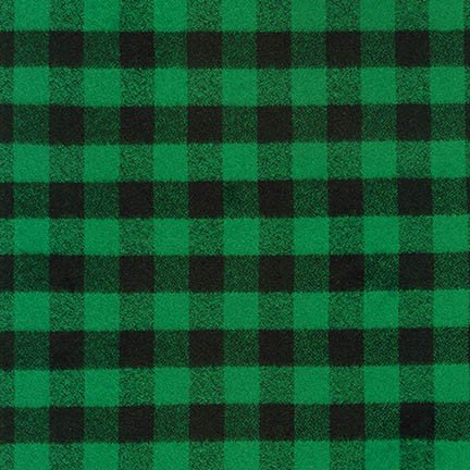 Fabric Mammoth Green Small Buffalo Check Flannel