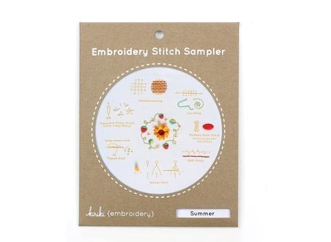 Embroidery Kit Summer Sampler Kiriki Press