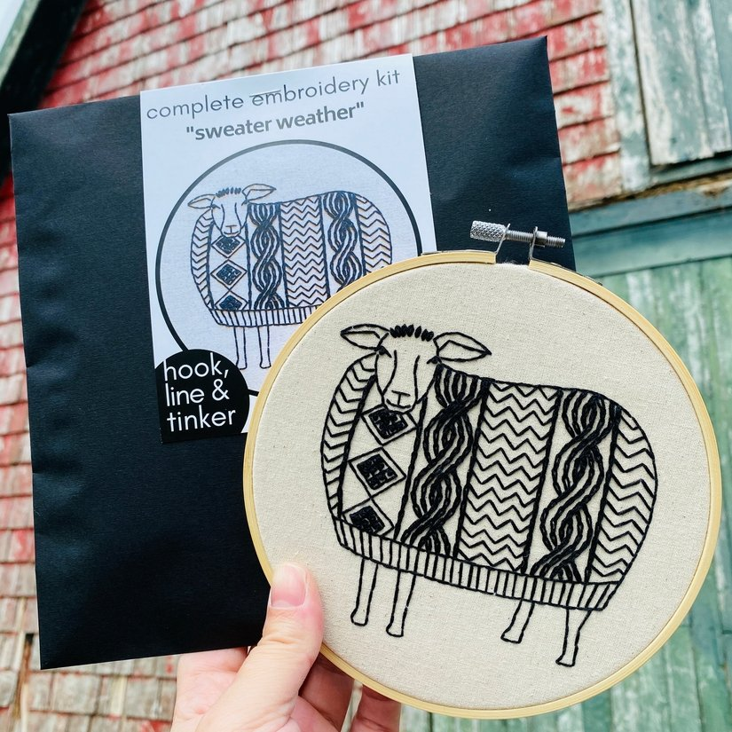 Embroidery Kit - Sweater Weather - Hook, Line & Tinker