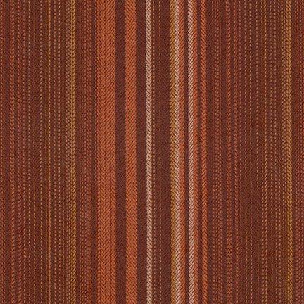 Fabric Tamarack Stripes Flannel Russet