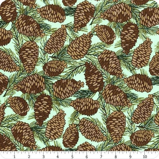 Fabric To Be Jolly Pinecones Moda