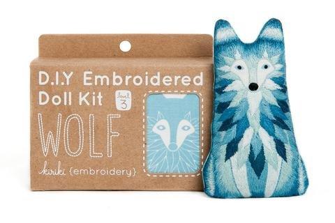 Embroidery Kit Doll Wolf Kiriki Press