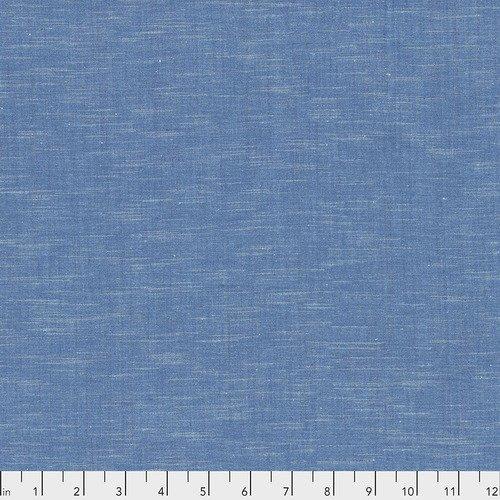Fabric Karma Cotton Azure REMNANT - 2.6 Yards