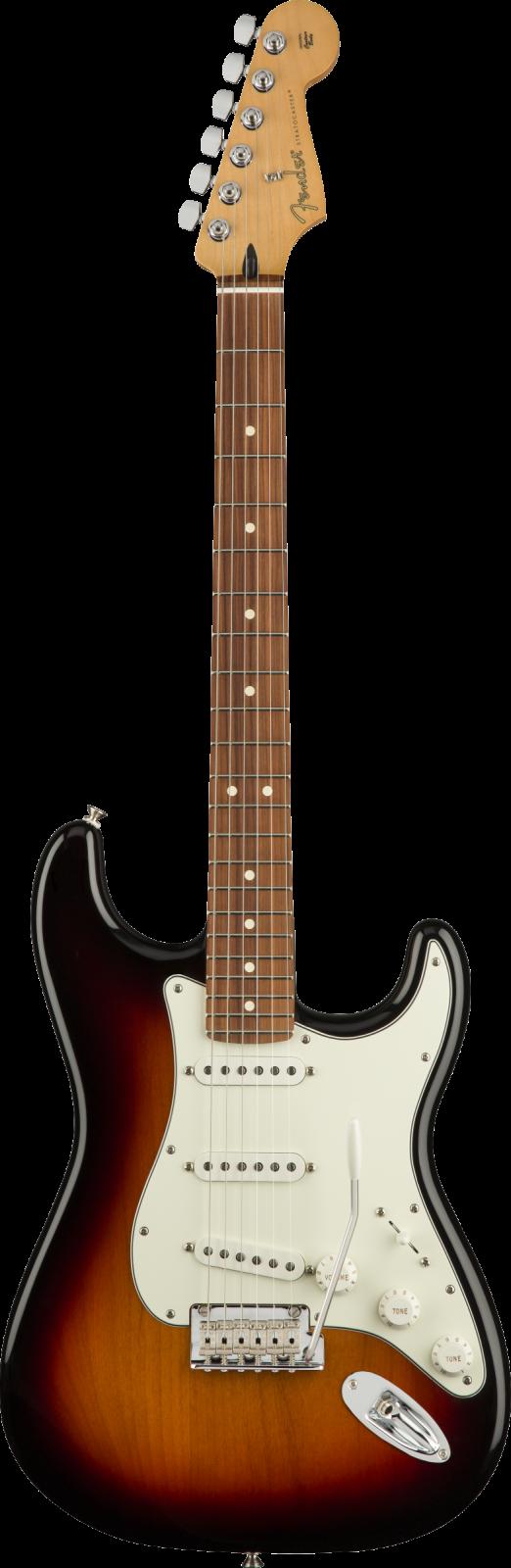 Fender Player Stratocaster  Pau Ferro Fingerboard, 3-Color Sunburst
