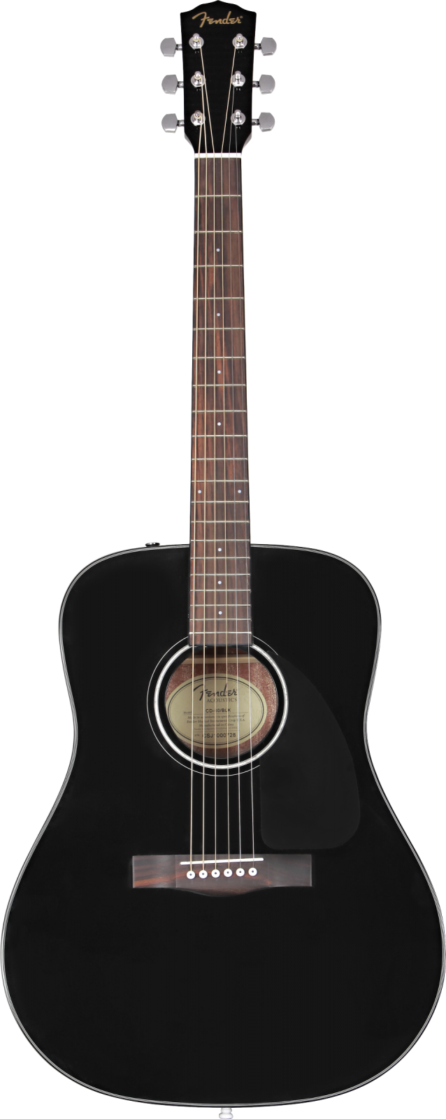 Fender CD-60 Dreadnought V3 w/Case, Walnut Fingerboard, Black