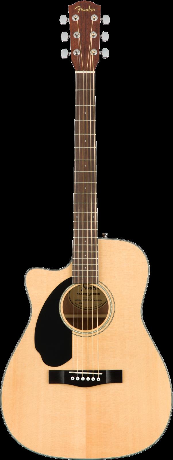 Fender CC-60SCE Concert LH, Walnut Fingerboard, Natural