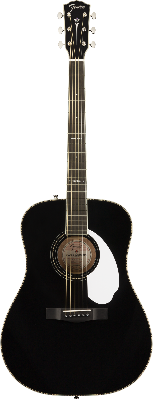 Fender Limited Edition PM-1 Deluxe Dreadnought with Case, Ebony Fingerboard, Black