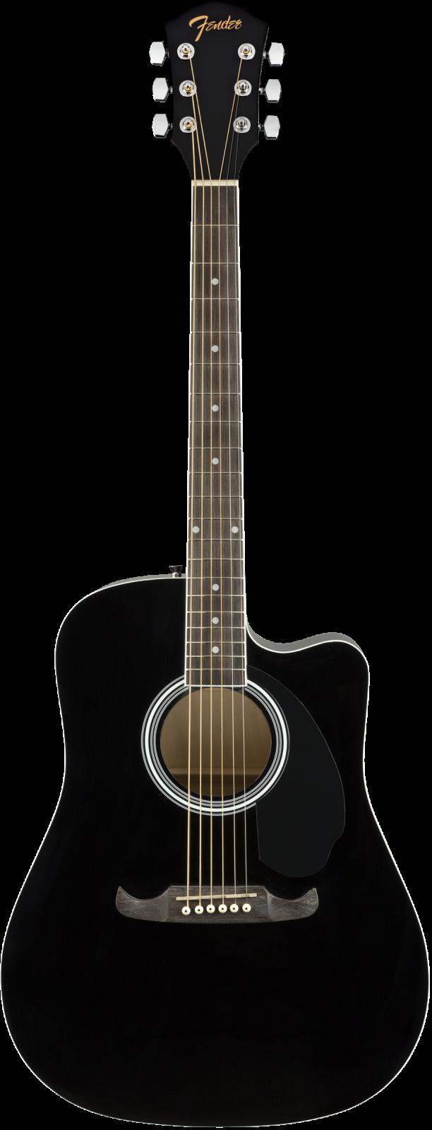 Fender FA-125CE Dreadnought, Walnut Fingerboard, Black