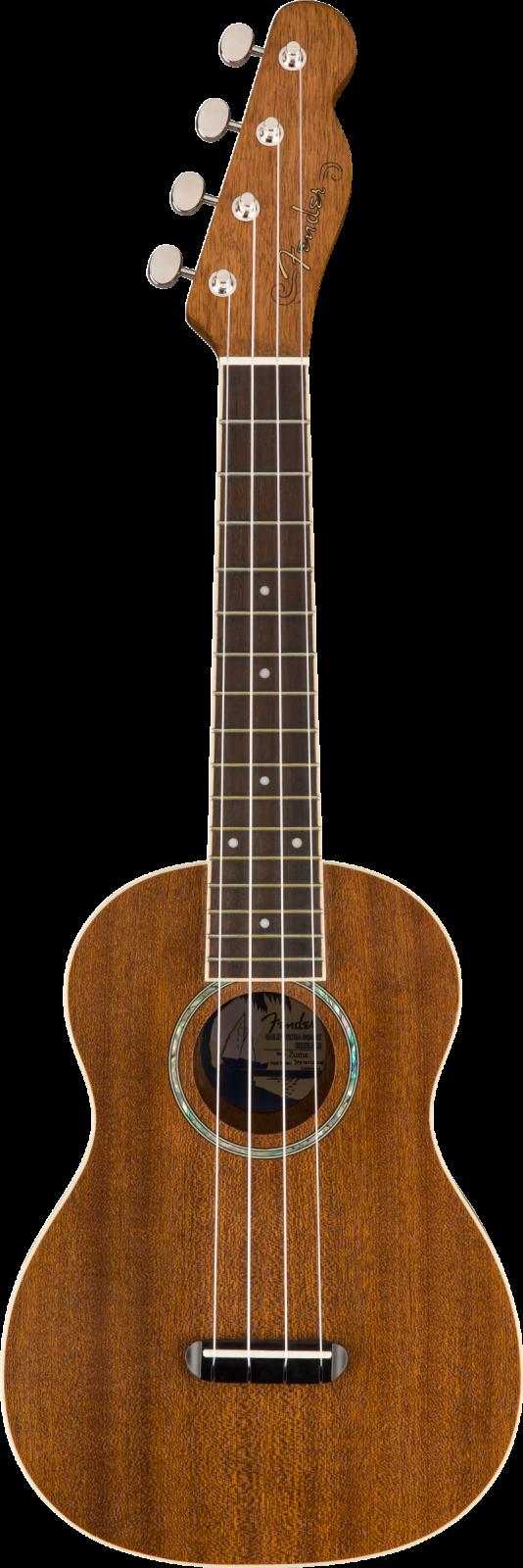 Fender Zuma Concert Ukulele, Natural