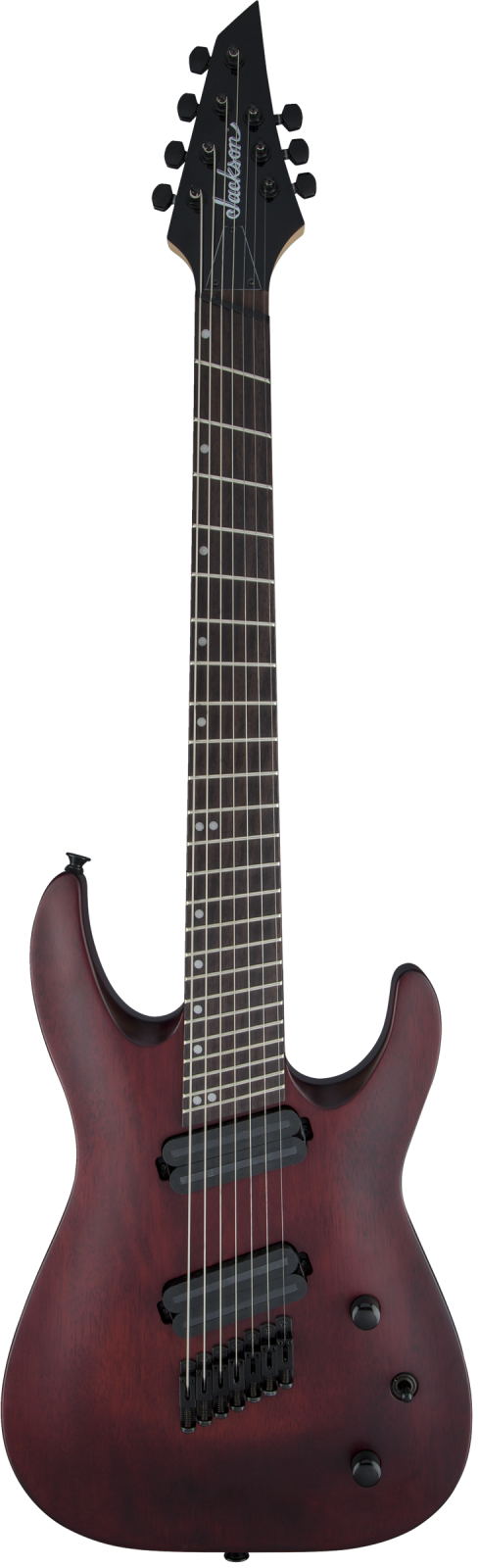 Jackson X Series Dinky  Arch Top DKAF7 MS, Laurel Fingerboard, Multi-Scale, Stained Mahogany