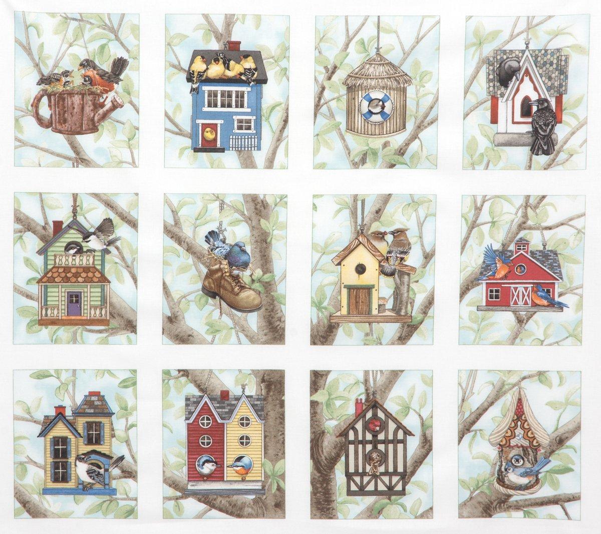 Birds & Birdhouses panel