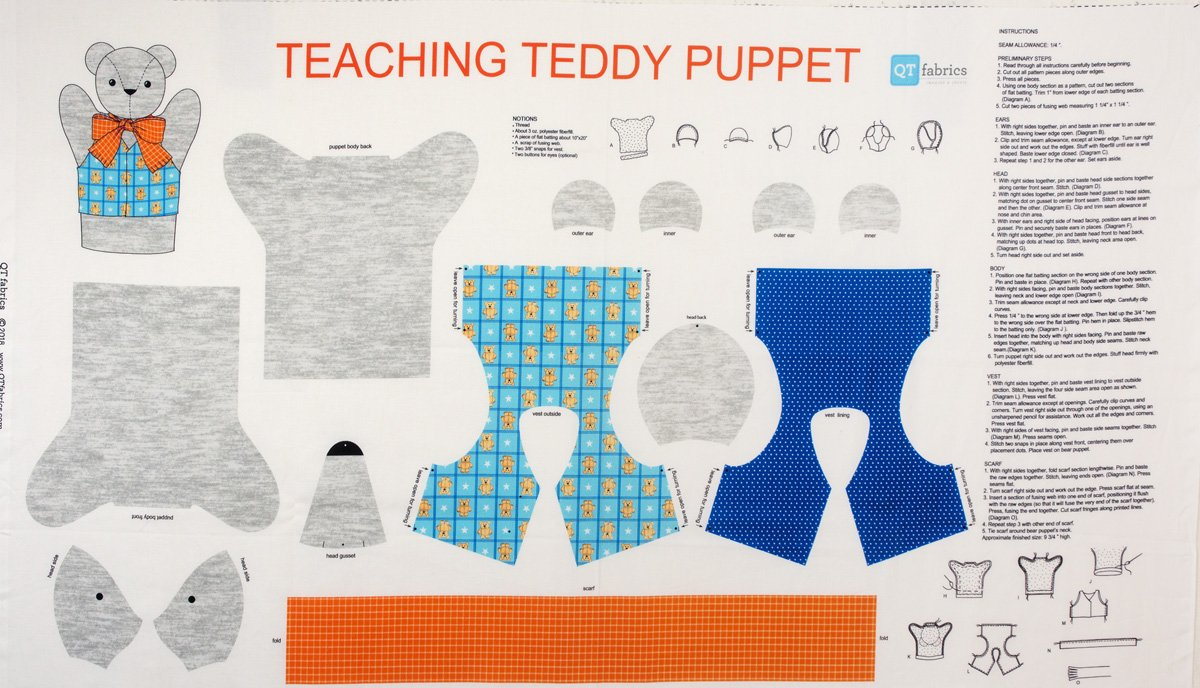 Teddy Bear Puppet panel