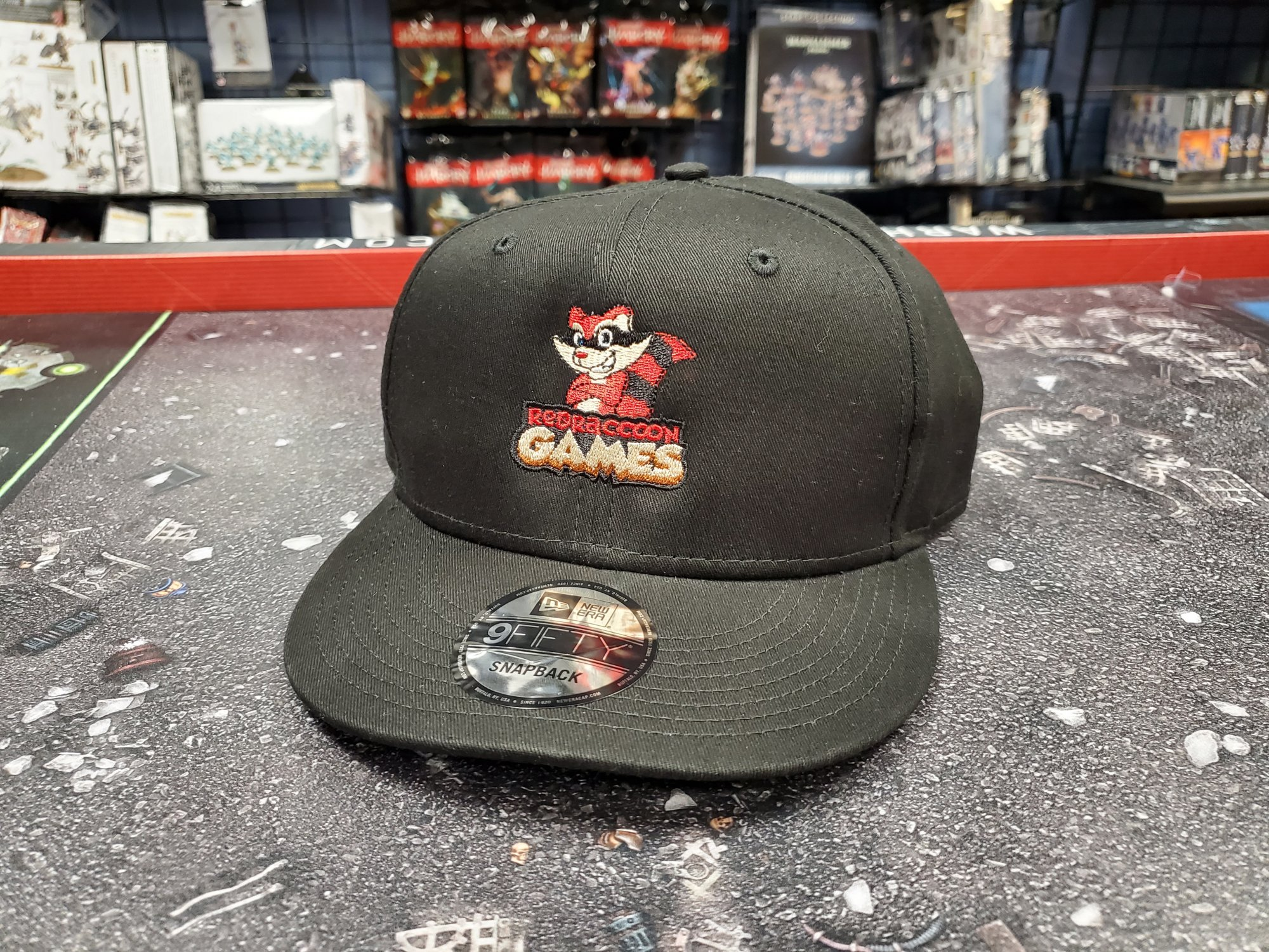 RRG Logo New Era Flat Bill Snapback Hat - Black