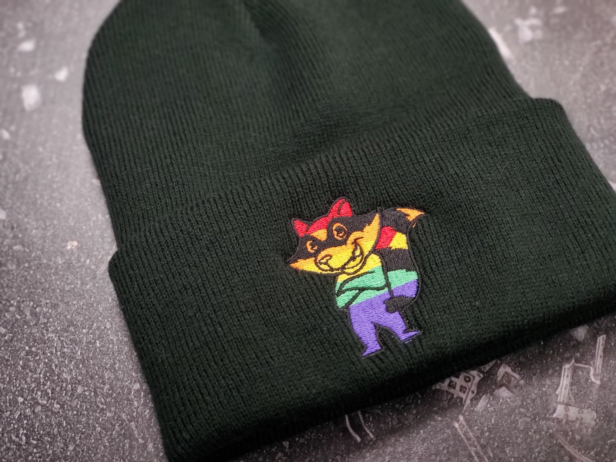 RRG Pride Embroidered Knit Stocking Hat