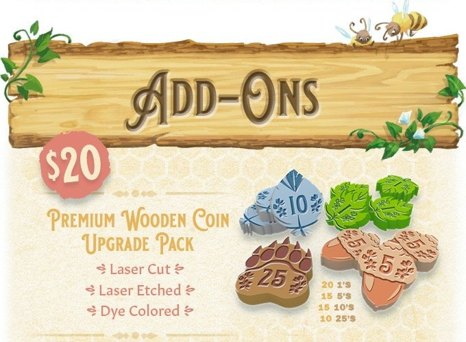 Honey Buzz Deluxe Wooden Coins - Kickstarter Edition