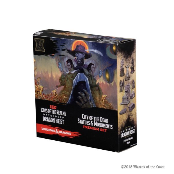 Dungeons & Dragons - Icons of the Realms Set 09 - Waterdeep Dragon Heist - City of the Dead Statues and Monuments Premium Set