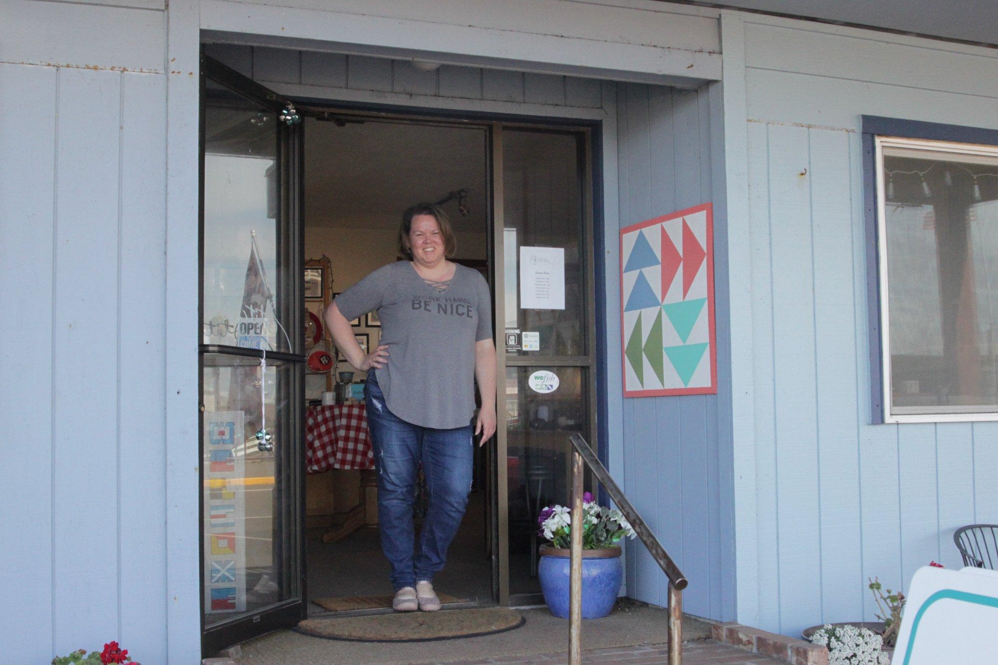Adrienne Wilkie, owner of Stitches Quilt and Craft in Westport, WA