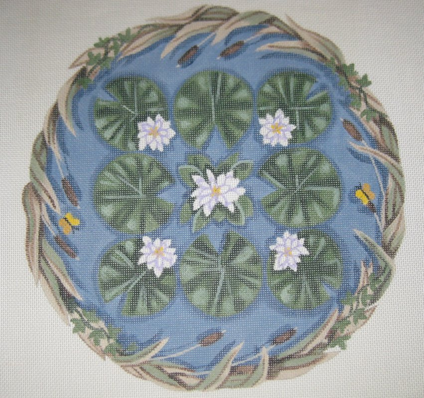 Canvas with Lily Pad