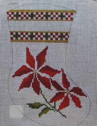 Poinsettias Mini Stocking