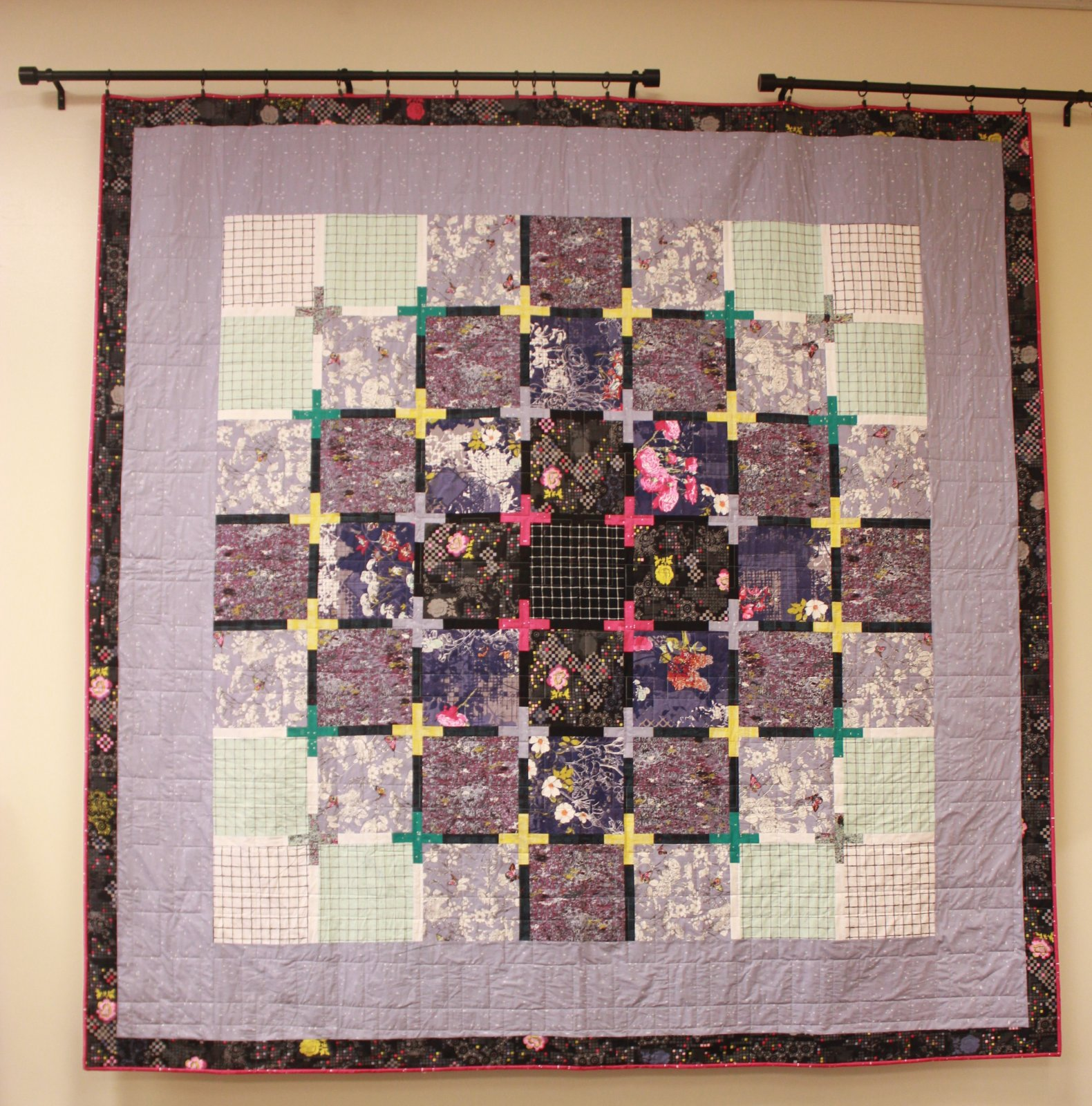 Megapixel Quilt Kit with Borders