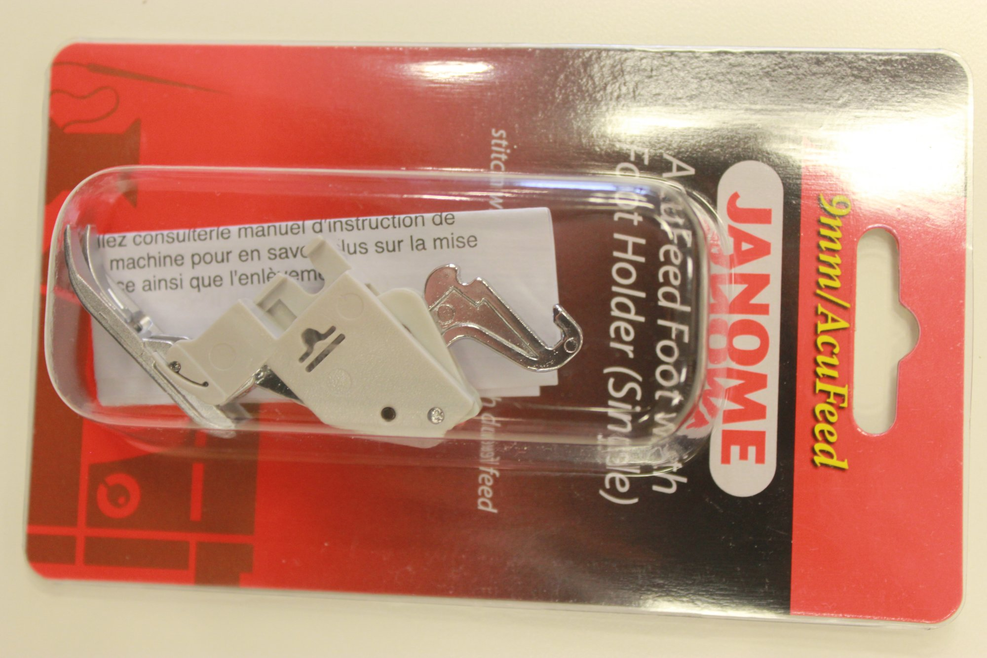 Janome Acu-Feed Foot with Foot Holder (Single)