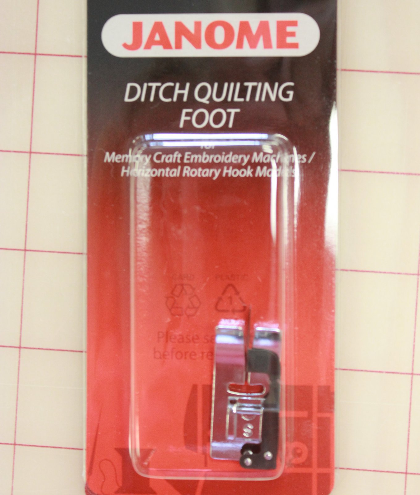 Ditch foot for 5 & 7mm machines