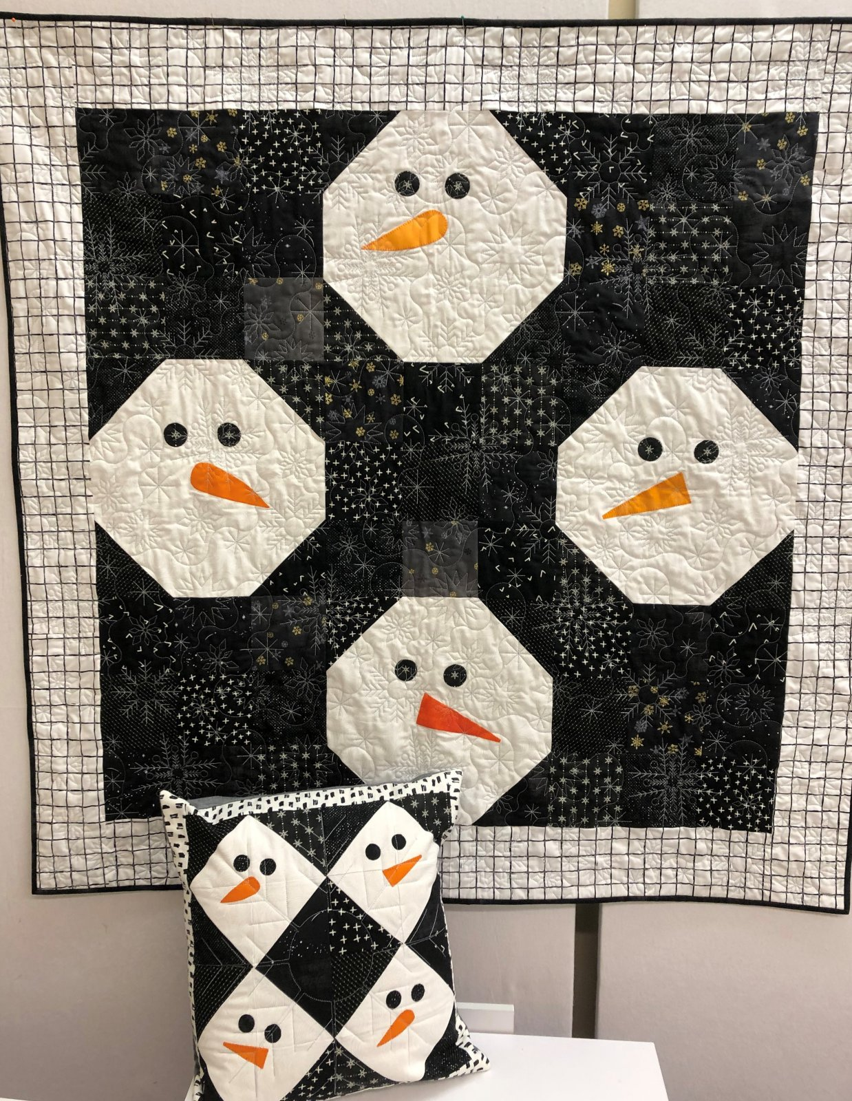Snowman Quilt and Pillow Top Kit