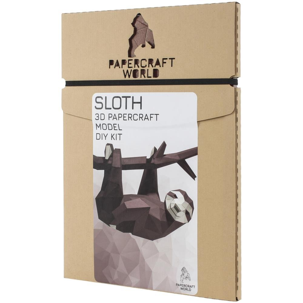 3D Papercraft Wall Art-Hanging Sloth