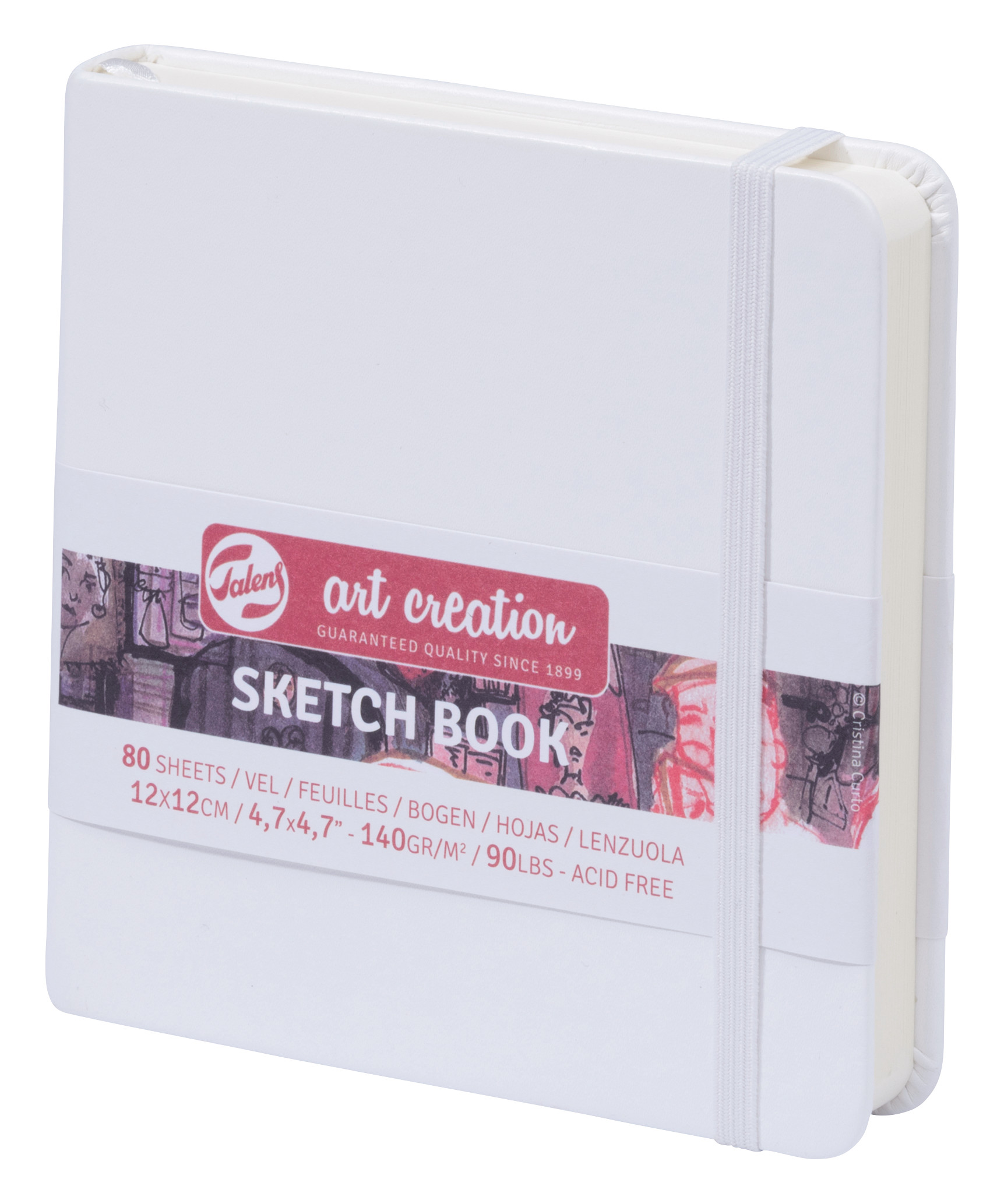 Talens Art Creation Sketchbook White 12X12 cm, 140 Grams