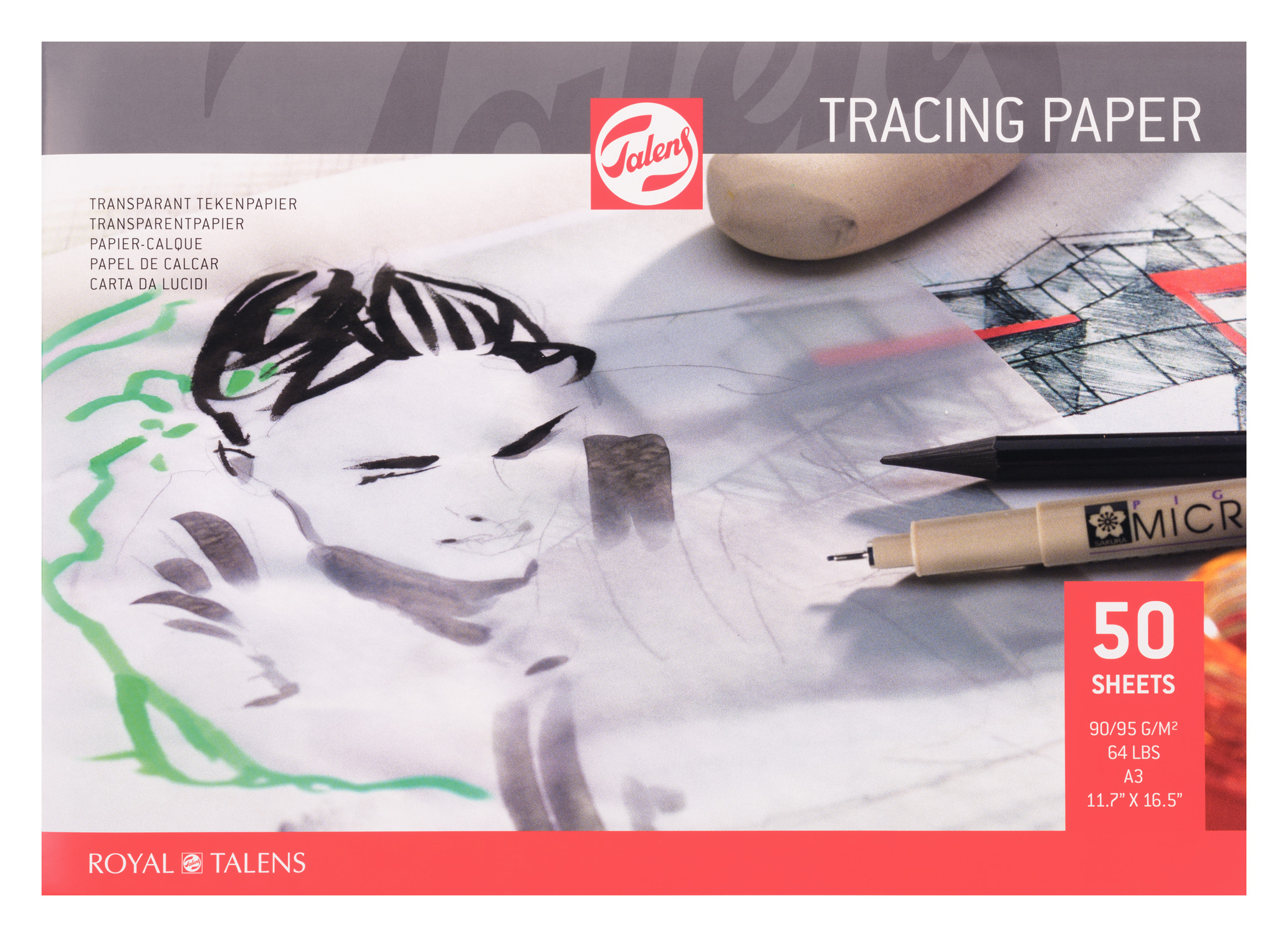 Talens Tracing Paper A3, 90G, 50 Pages