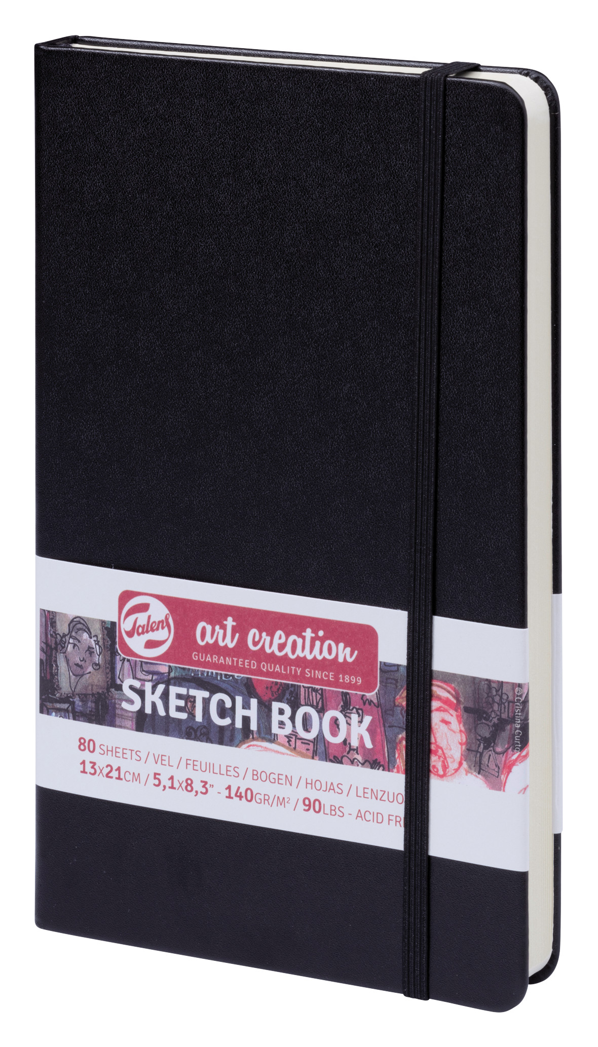 Talens Art Creation Sketchbook Black 13X21 cm, 140 Grams