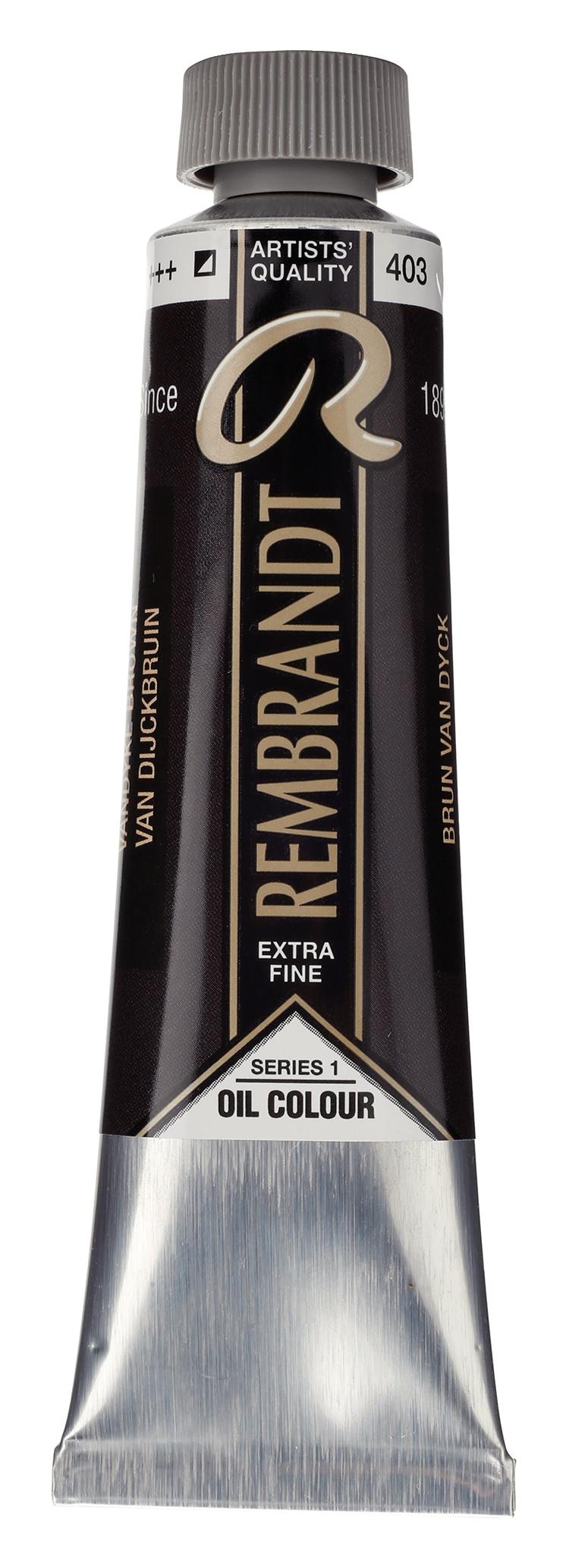 Rembrandt Oil colour Paint Vandyke Brown (403) 40ml Tube