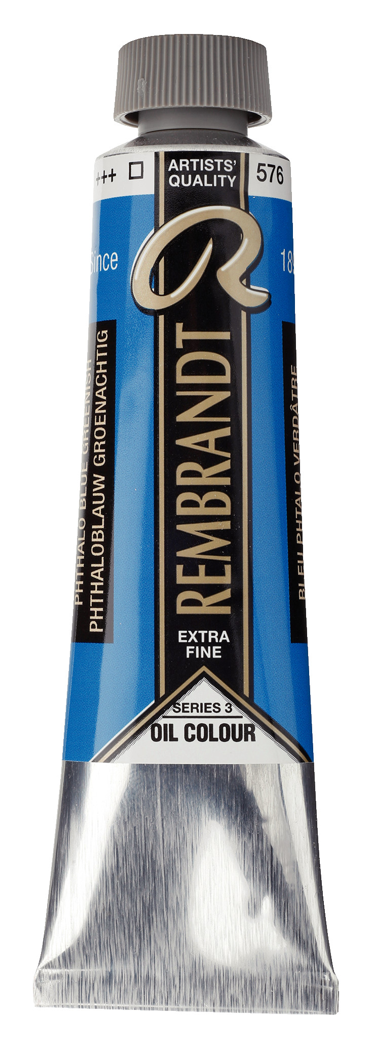 Rembrandt Oil colour Paint Phthalo Blue Green (576) 40ml Tube