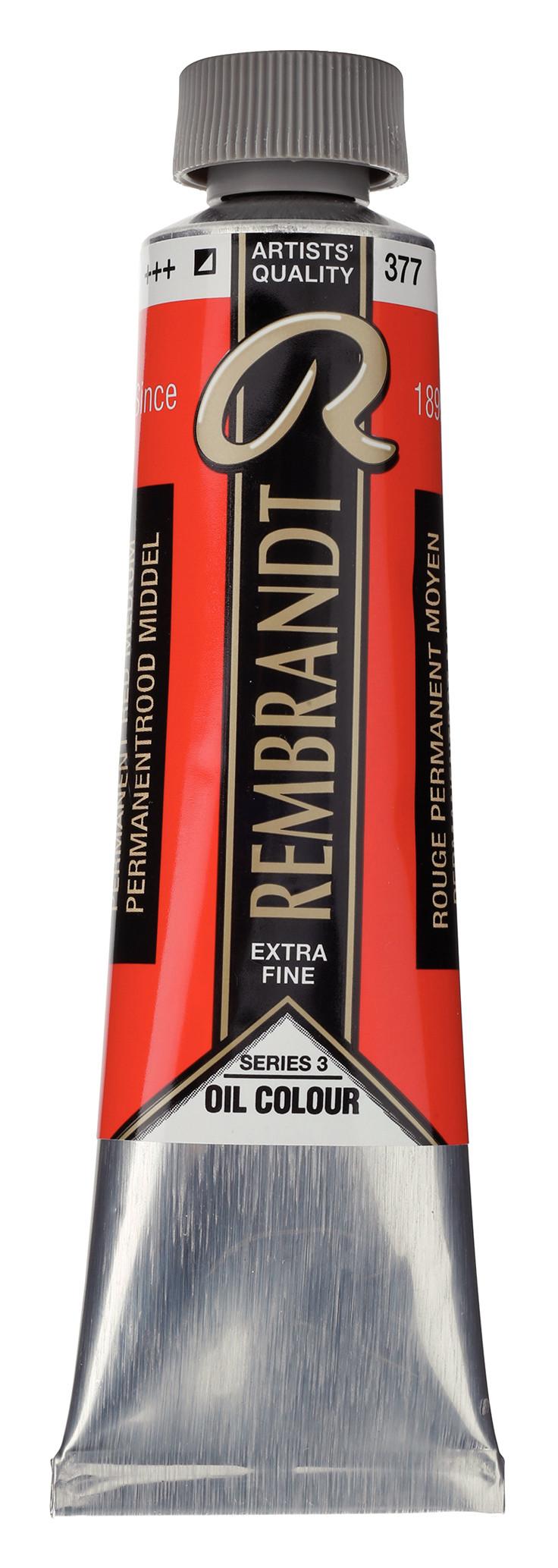 Rembrandt Oil colour Paint Permanent Red Medium (377) 40ml Tube