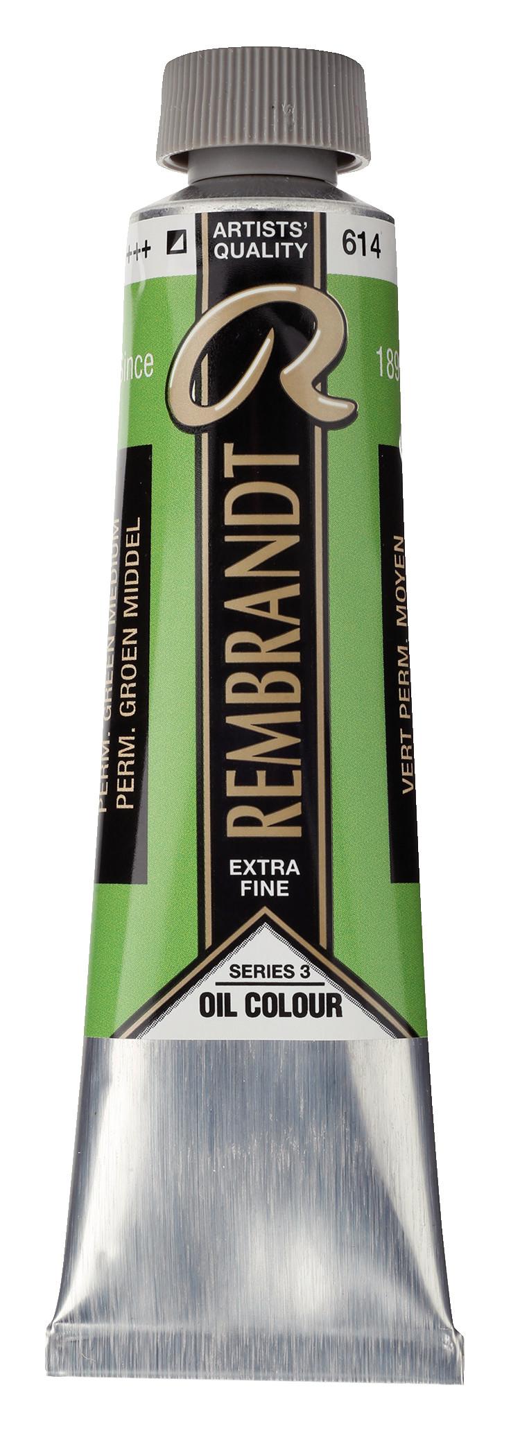 Rembrandt Oil colour Paint Permanent Green Medium (614) 40ml Tube