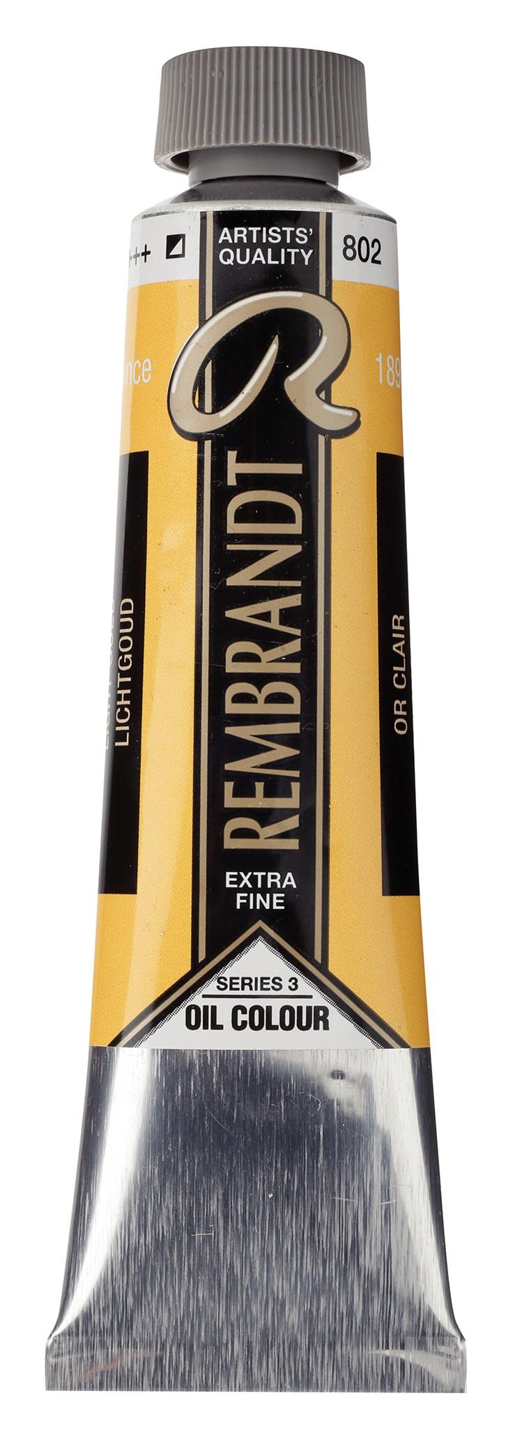 Rembrandt Oil colour Paint Light Gold (802) 40ml Tube
