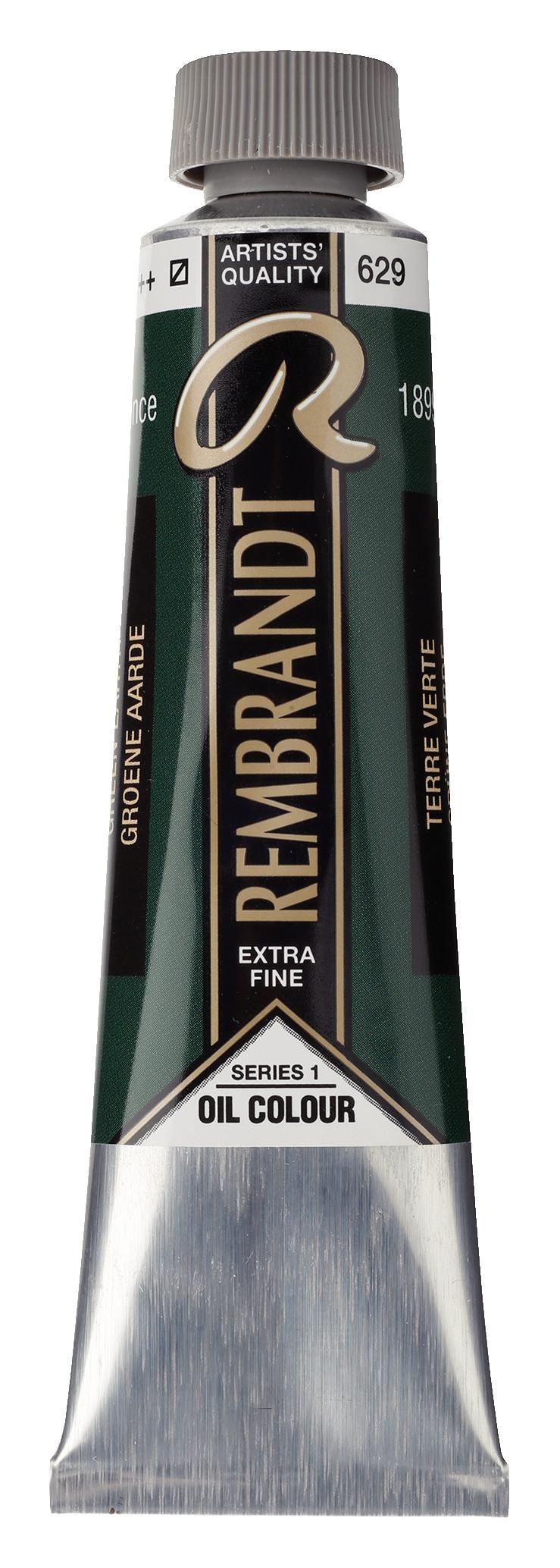 Rembrandt Oil colour Paint Green Earth (Terre Verte) (629) 40ml Tube