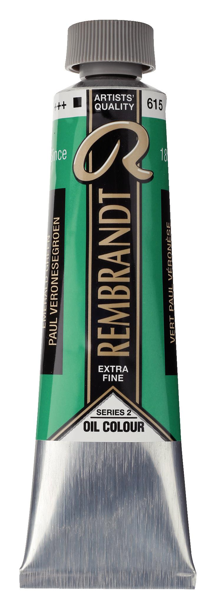 Rembrandt Oil colour Paint Emerald Green (615) 40ml Tube