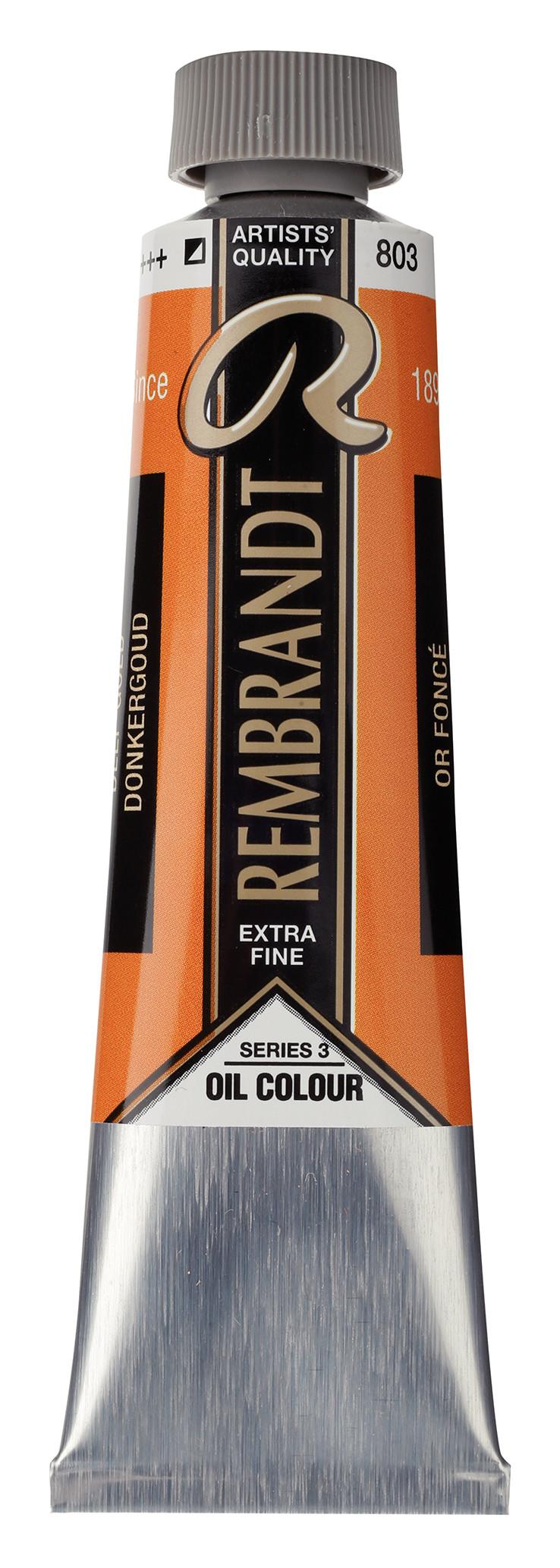Rembrandt Oil colour Paint Deep Gold (803) 40ml Tube