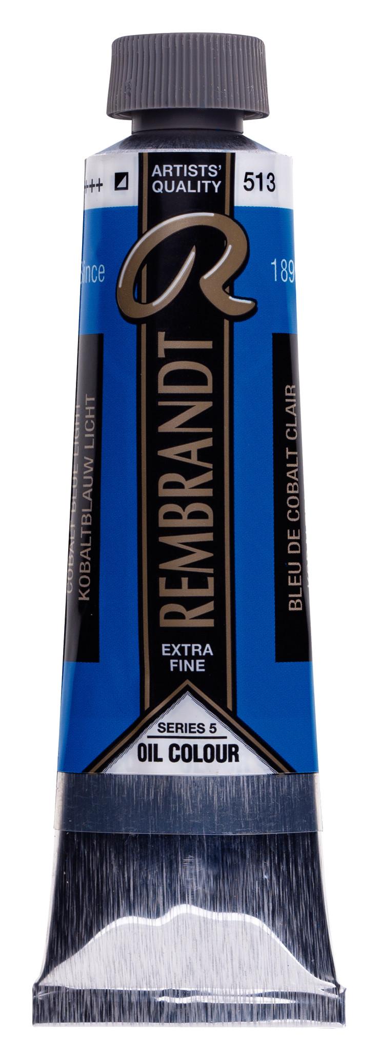 Rembrandt Oil colour Paint Cobalt Blue Light (513) 40ml Tube