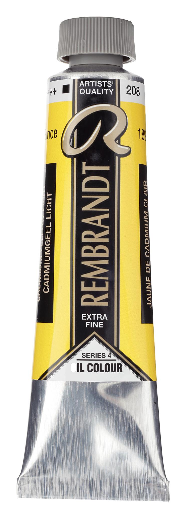 Rembrandt Oil colour Paint Cadmium Yellow Light (208) 40ml Tube
