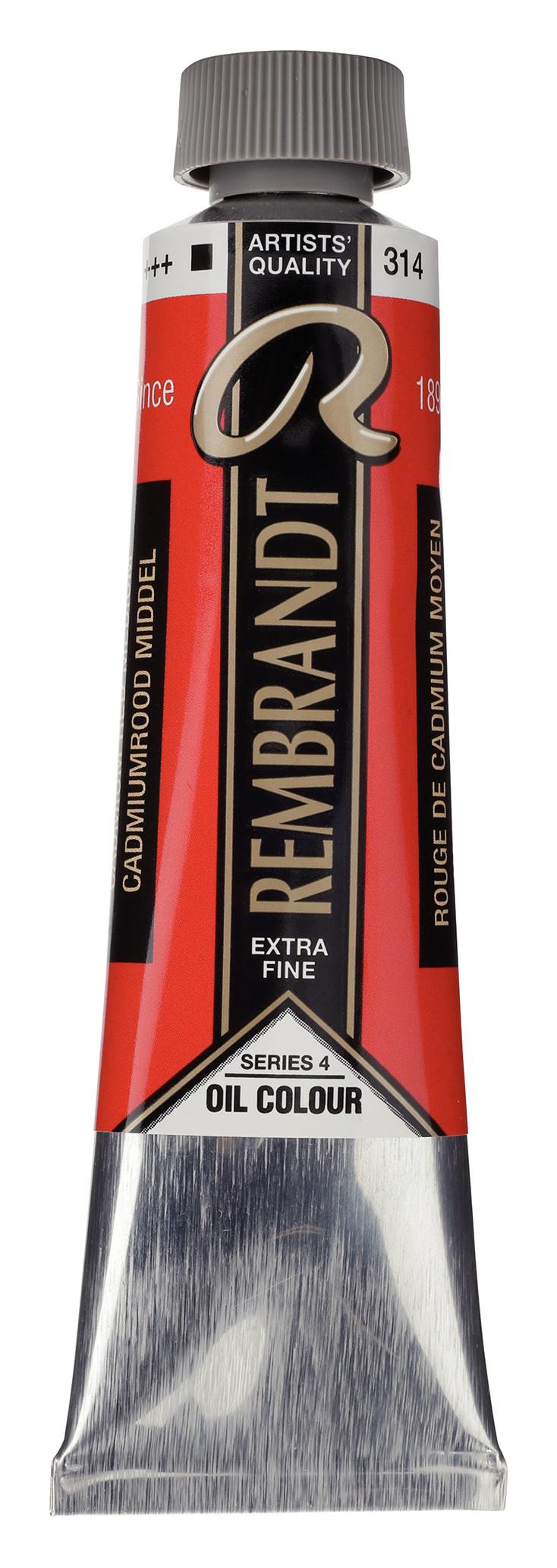 Rembrandt Oil colour Paint Cadmium Red Medium (314) 40ml Tube