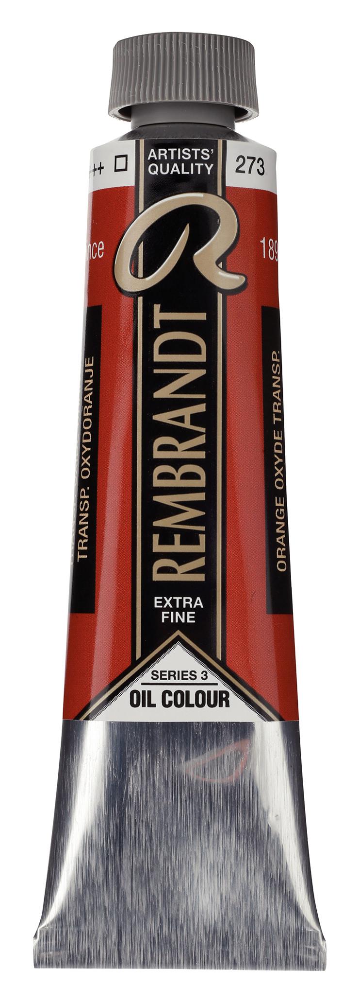 Rembrandt Oil colour Paint Transparent Oxide Orange (273) 40ml Tube