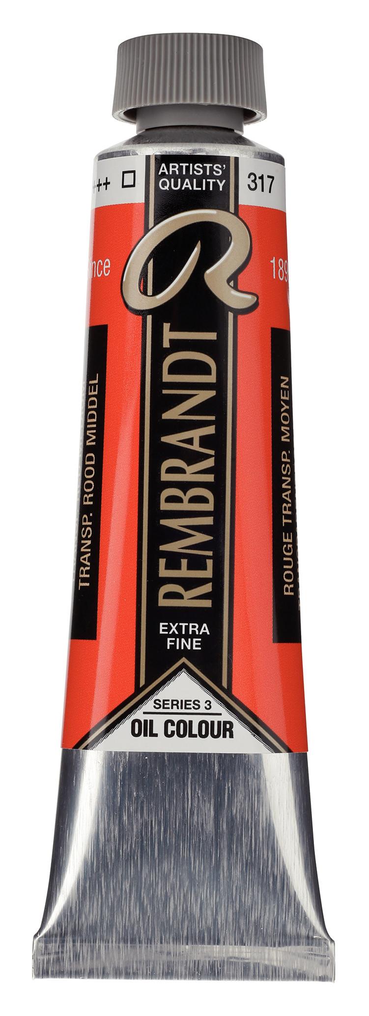 Rembrandt Oil colour Paint Transparent Red Medium (317) 40ml Tube