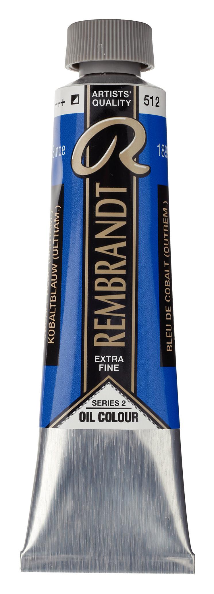 Rembrandt Oil colour Paint Cobalt Blue Ultramarine (512) 40ml Tube